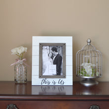 Load image into Gallery viewer, Wedding This Is Us Rustic 5 x 7-inch Plank Picture Frame, White