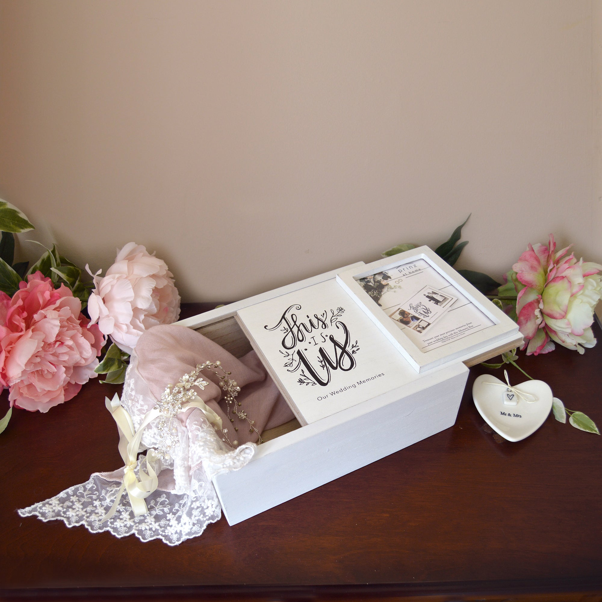 Decorative Wedding Photo Keepsake Box