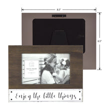 Load image into Gallery viewer, Enjoy the Little Things 4-inches by 6-inches Plank Horizontal Picture Frame