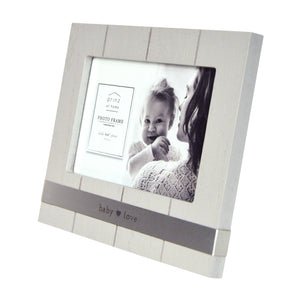 Baby Love Metal Band 4 x 6-inch Horizontal Picture Frame