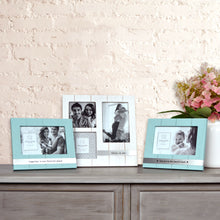 Load image into Gallery viewer, Together is our Favorite Place 4 x 6-inch Plank Picture Frame, Light Blue