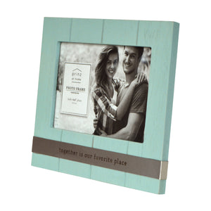 Together is our Favorite Place 4 x 6-inch Plank Picture Frame, Light Blue