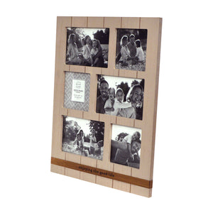 6 Opening Enjoying the Good Life Metal Band Plank Collage Picture Frame