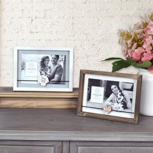You & Me Boxed Wood 4 x 6-inch Picture Frame, White