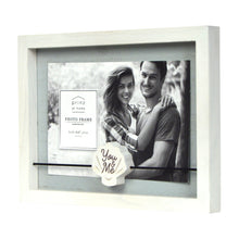 Load image into Gallery viewer, You & Me Boxed Wood 4 x 6-inch Picture Frame, White