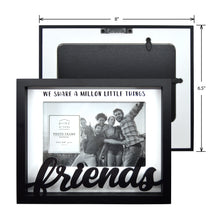 Load image into Gallery viewer, Friends Shadow Box Word 4-inches by 6-inches Picture Frame