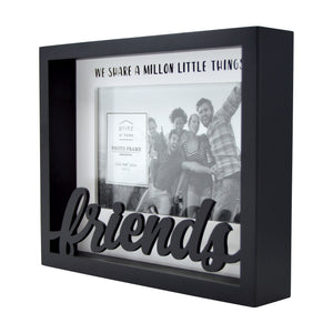 Friends Shadow Box Word 4-inches by 6-inches Picture Frame