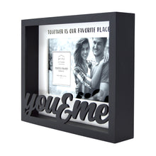 Load image into Gallery viewer, You & Me 4 x 6-inch Shadow Box Word Picture Frame, Black