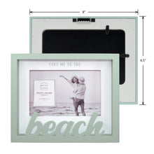 Load image into Gallery viewer, Beach Sentiment 4 x 6-inch Shadow Box Word Picture Frame