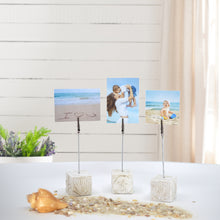 Load image into Gallery viewer, Pressed Plaster Coastal Photo Clip Stands