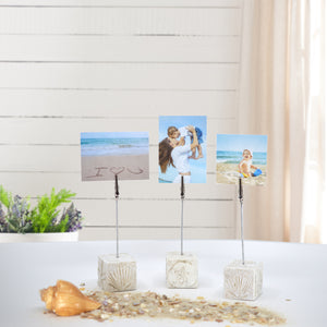 Pressed Plaster Coastal Photo Clip Stands