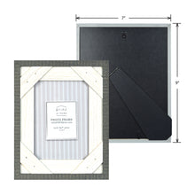 Load image into Gallery viewer, Reclaimed 5 x 7 Crosshatch Rustic Wood Picture Frame, Gray-White