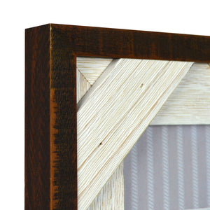 Reclaimed 4 x 6-inch Crosshatch Rustic Wood Picture Frame, Walnut-White
