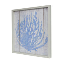 "Load image into Gallery viewer, Ava Barrett 18""x 18"" Framed Blue Coral Coastal Reverse Box with Hand Paint Wall Art"
