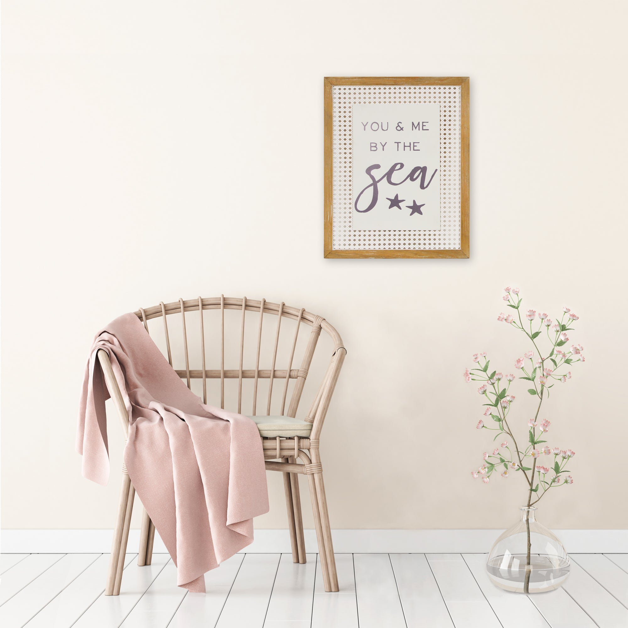 You and Me by the Sea Decorative Rattan Wall Art