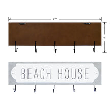 Load image into Gallery viewer, Beach House Decorative Plaque Wall Hooks