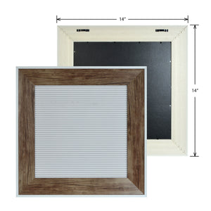 Framed Square White Felt 16-inch by 16-inch Letter Board