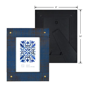 Mixed & Mingled 5 x 7 Reclaimed Wood Picture Frame, Indigo Blue