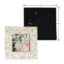 Load image into Gallery viewer, Mixed & Mingled 4 x 4 Resin Terrazzo Picture Frame