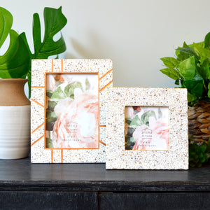 Mixed & Mingled 4 x 4 Resin Terrazzo Picture Frame