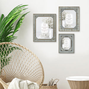 Mixed & Mingled 5 x 7 Reclaimed Wood Picture Frame, Gray