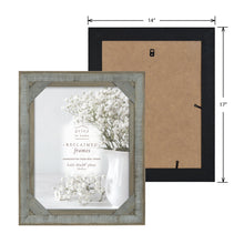 Load image into Gallery viewer, Mixed & Mingled 11 x 14 Crosshatch Wood Picture Frame, Gray