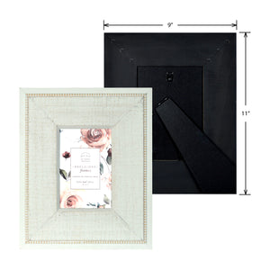 Reclaimed 4 x 6-inch Beaded Rustic White Wood Picture Frame