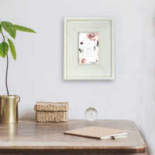 Load image into Gallery viewer, Reclaimed 4 x 6-inch Beaded Rustic White Wood Picture Frame