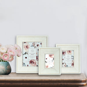 Reclaimed 5 x 7 Beaded Rustic Wood Picture Frame, White