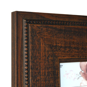 Reclaimed 4 x 6 Beaded Rustic Wood Picture Frame, Walnut
