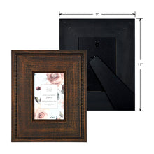 Load image into Gallery viewer, Reclaimed 4 x 6 Beaded Rustic Wood Picture Frame, Walnut