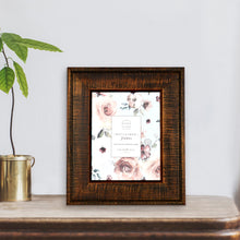 Load image into Gallery viewer, Reclaimed 8-Inch by 10-Inch Rustic Wood Frame, Dark Walnut