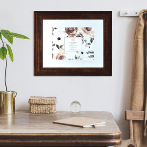 Reclaimed 16 x 20 Beaded Rustic Wood Picture Frame, Walnut
