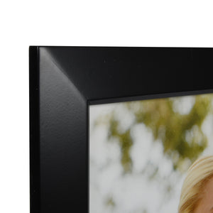 Dakota 16-inch by 20-inch Natural Wood Picture Frame, Black