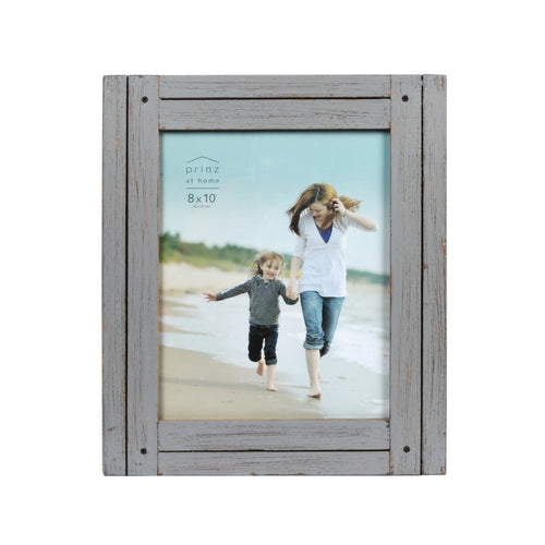 Homestead 8-inch x 10-inch Rustic Wood Picture Frame, Distressed Gray