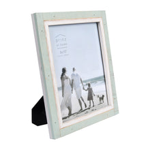 Load image into Gallery viewer, Shoreline 8-Inch by 10-Inch Two-Tone Distressed Wood Picture Frame, Green and White