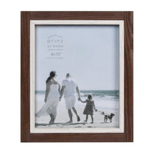 Load image into Gallery viewer, Shoreline 8-Inch by 10-Inch Two-Tone Distressed Wood Picture Frame, Brown and White