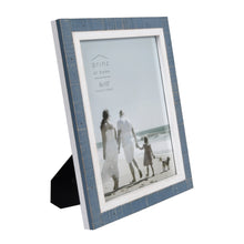Load image into Gallery viewer, Shoreline Two-Toned 8-Inch by 10-Inch Distressed Wood Picture Frame, Blue and White