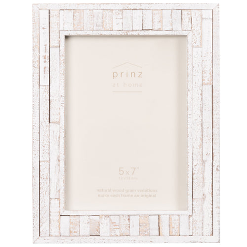 Set of Four, Pallet 5-Inch by 7-Inch Wood Picture Frame, White