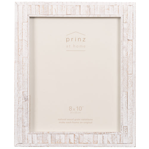 Set of Two, Pallet 8-Inch by 10-Inch Wood Picture Frame, White