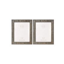 Load image into Gallery viewer, Set of Two, Pallet 8-Inch by 10-Inch Wood Picture Frame, Gray
