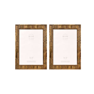 Set of Two, Pallet 8-Inch 10-Inch Wood Picture Frame, Coffee
