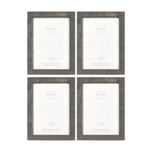 Load image into Gallery viewer, Set of Four, Pallet 5-Inch by 7-Inch Wood Picture Frame, Gray