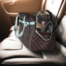 Load image into Gallery viewer, Fabric Pet Carrier with Handles and Mesh Panel Chocolate