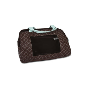 Fabric Pet Carrier with Handles and Mesh Panel Chocolate