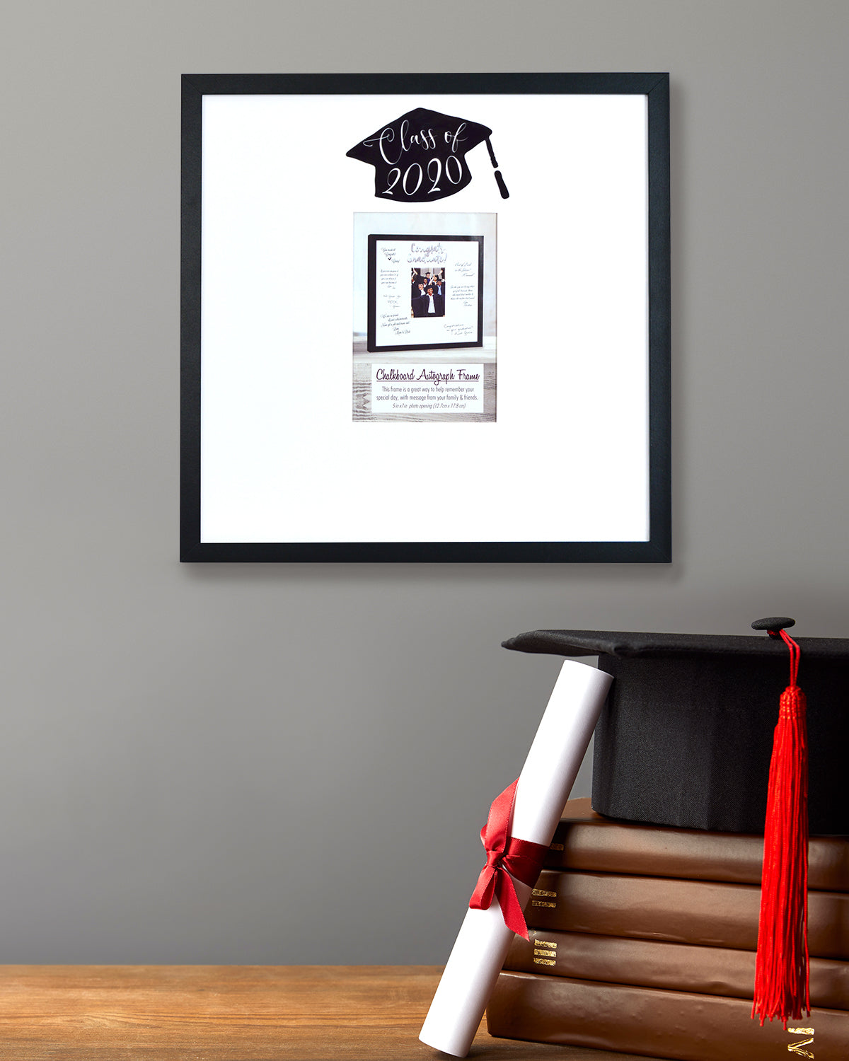 5-inch by 7-inch Photo Opening Matted Autograph Graduation Picture Frame Class of 2020