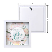 Load image into Gallery viewer, Wooden 6 x 6 Baby Fund Glass Front Box Bank, White