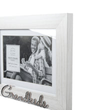 Load image into Gallery viewer, Matted White 7 X 5 to 6 X 4 Grandkids Sentiment Picture Frame