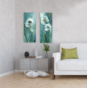 Forest Blossoms 8-inches by 20-inches Canvas Wall Art Set of 2