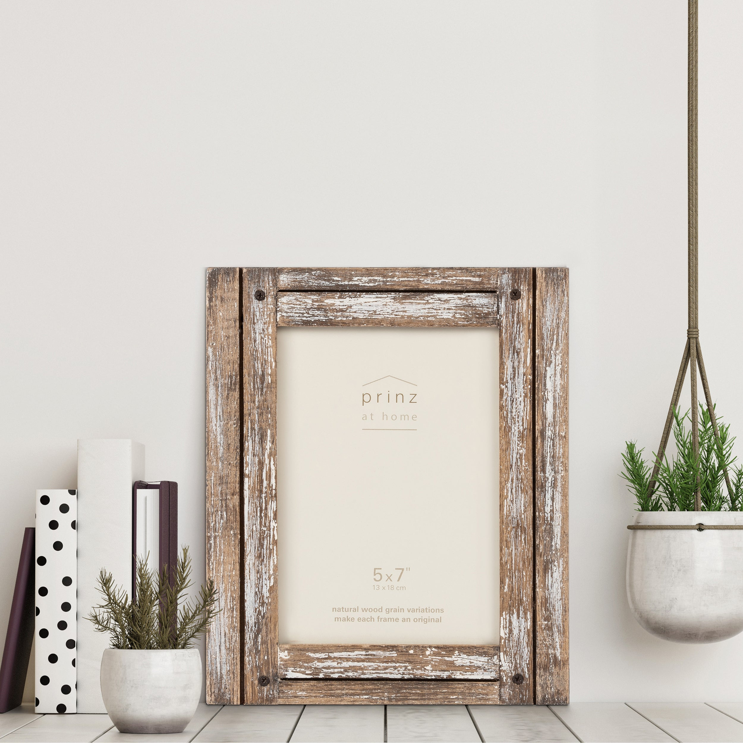 Homestead 5-inch x 7-inch Distressed Wood Picture Frame, Natural